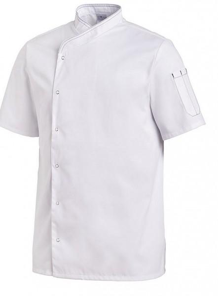 Leiber Kochjacke 1/2 Arm, Druckknöpfe, weiß