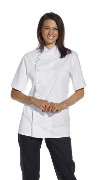 Kochjacke 1/2 Arm, Druckknöpfe, weiß