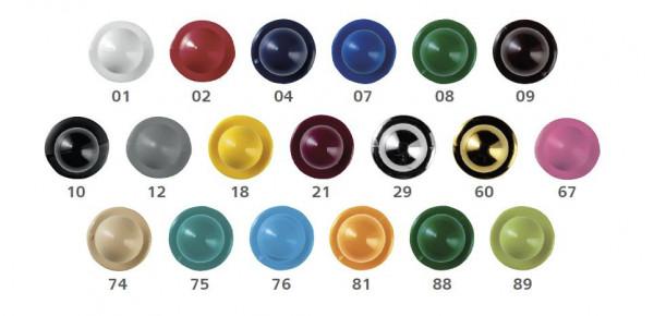 Kugelknöpfe 12 Stück, diverse Farben