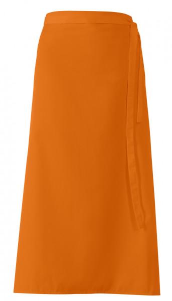 "Bistroschürze ""De Luxe"", orange, ca 100 x 100 cm"