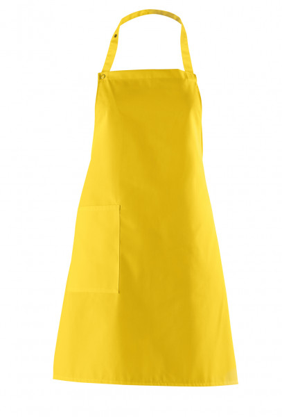 Latzschürze ca. 75 cm lang, gelb