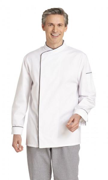 Leiber Kochjacke 1/1 Arm, weiß-schwarz